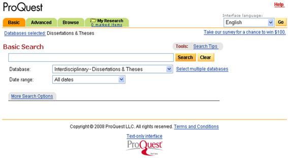 ฐานข้อมูล Dissertation and theses
