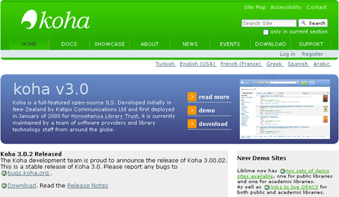 Koha - Open Source for ILS