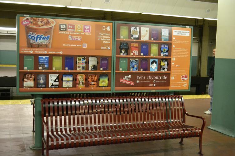 โครงการความร่วมมือระหว่าง SEPTA, The Free Library of Philadelphia and Dunkin' Donuts.
